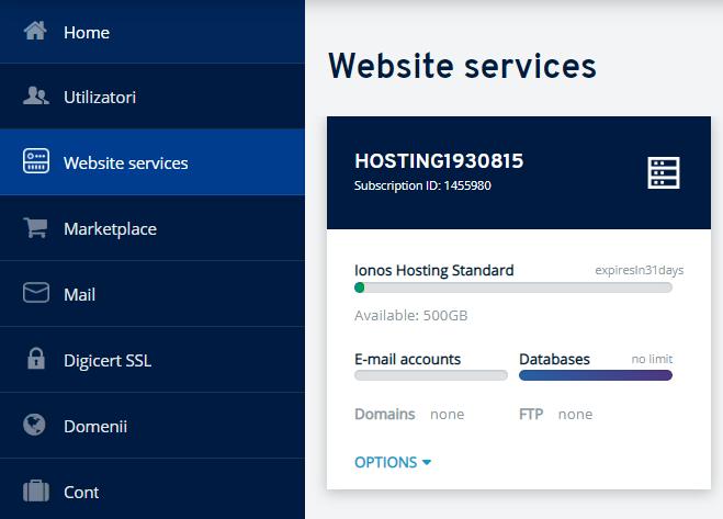 Servicii WWW / Website services