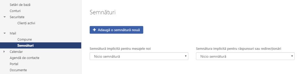 Semnătura e-mail - configurare e-mail