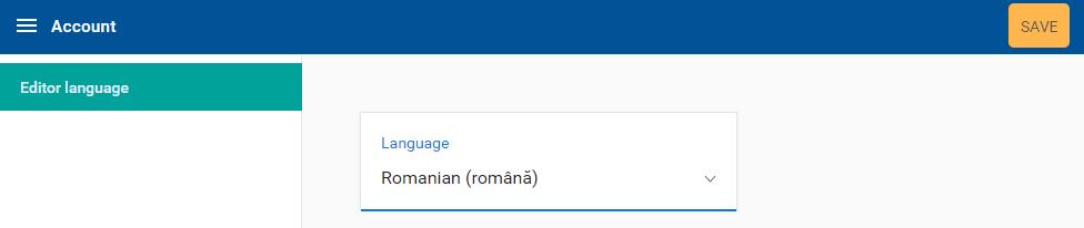 Schimbați limbajul software. Setați limba română.