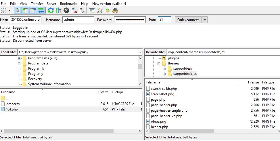 Cum să încărcați fișiere pe un server FTP folosind FileZilla?
