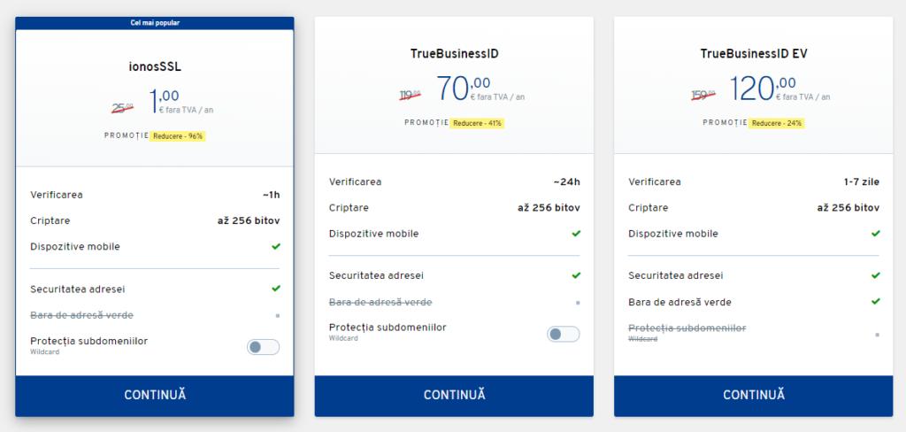 Cum să comandați un certificat SSL la ionos.ro?
